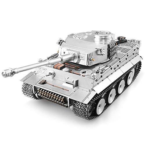 "All Metall-Fernbedienung Panzer 01.16 Große hohe Simulations-Tiger ""I"" Tank-Modell simulierter Kampf Aktion mit Licht und Sound Effect Einführung BB Kugel Beruf Kampf RC Panzern"