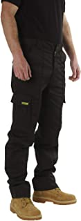 SITE KING Mens Cargo Combat Work Trousers Sizes 28 to 56 with Button & Zip Fly