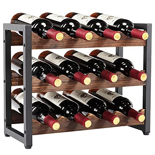 Botellero para 12 Botellas Estantería de Botellas de Vino Armario botellero de Vino …