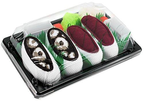 Rainbow Socks - Mujer Hombre Calcetines Sushi Atún Pulpo - 2 Pares - Tamaño 41-46