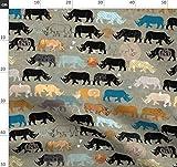 Nashorn, Afrika, Ethno, Zoo, Ocker Stoffe - Individuell