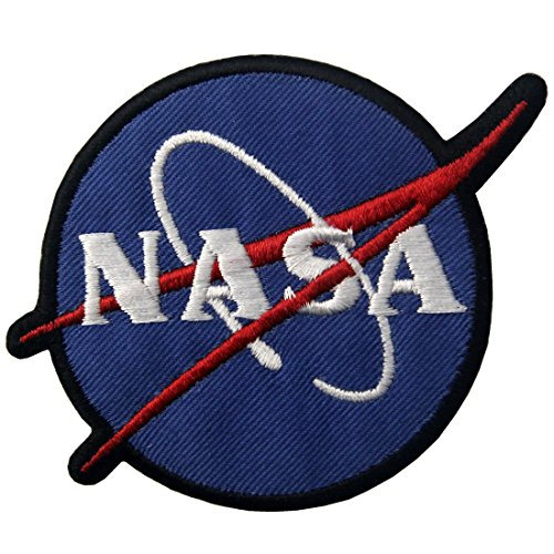 ZEGIN Aufnäher, Bestickt, Design: NASA Logo Weltraumforscher, zum Aufbügeln oder Aufnähen