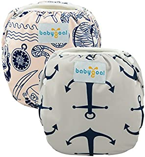 babygoal Baby Reusable Swim Diaper, Washable and Adjustable for Babies 0-2 Years, Swimming Lessons & Baby Shower Gift