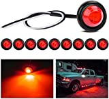 Gebildet 10pcs Rotonde LED Luci di Posizione Laterali, Luci di Posizione o d'ingombro per la Parte Frontale,per Auto e Camion(Rosso)