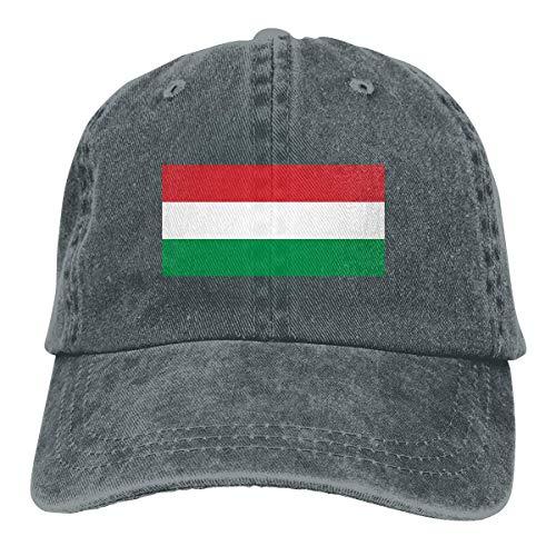 MERCHA Ungarn Flag Adjustable Baseball Cap,Driver Hat, Denim Dad Hat,Truck Cap