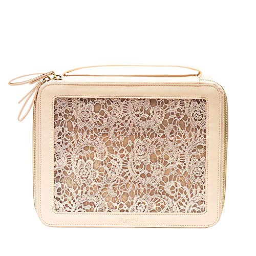 Ava Travel Cosmetic Case (Blush Lace)