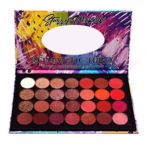 HJSMZ Paleta de Sombras de Ojos Paleta de Sombras Belleza Paleta Maquillaje Paletas de Maquillaje Conjunto de Paleta Brillantes Y Mate 28 Colores