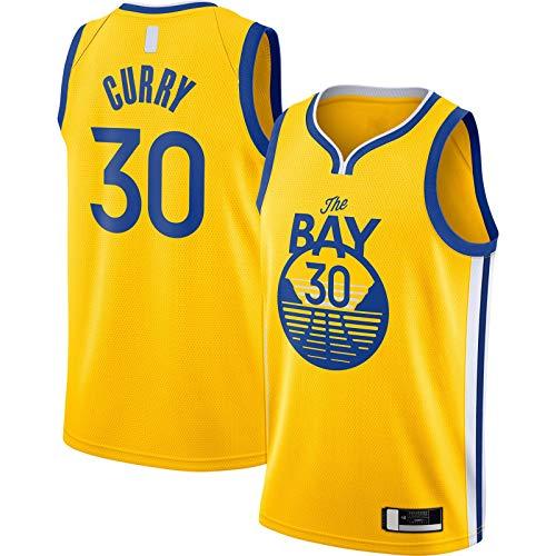 OYFFL Stephen Jersey de baloncesto Curry Custom Golden Top sin mangas State T-Shirt Warriors #30 acabado Swingman Jersey Oro – Declaración Edición-XL