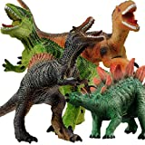 "Gizmovine 4PCS Jumbo Dinosaur Toys Set ,13"" Realistic Looking Soft Dinosaur Toy Set for 3 5 Year Old Boys Girls Kids Party Gift, Children s Birthday Gifts"