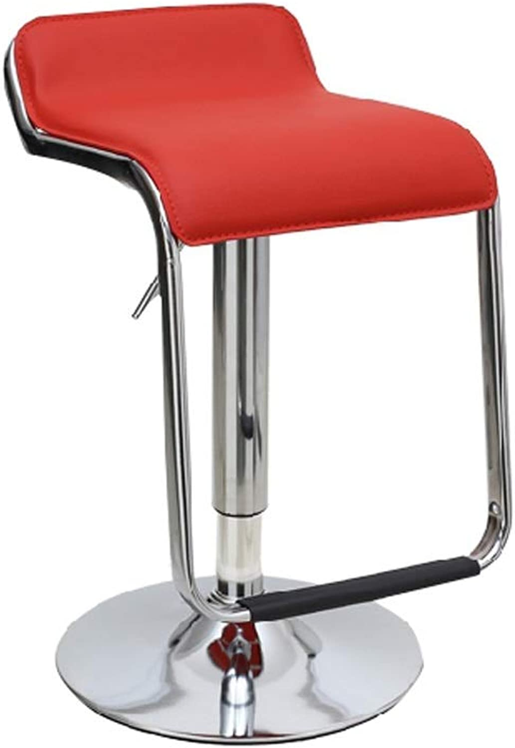 Barstool Bar Chair Simple Home Lift Swivel Chair 8 colors Adjustable Height 60cm to 80cm (color   Red)