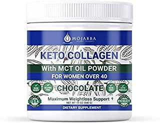 Sponsored Ad - 30 Servings Keto Collagen w/MCT Oil for Women Over 40, Keto Diet Supplement, Anti-Aging Support, Boost Cell...