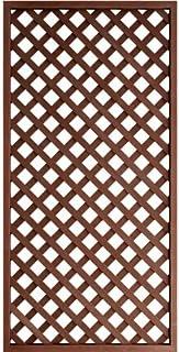 人工木 ラティス フェンス 1890【1800×900mm/ブラウン】aks-45372 JJ PROHOME DIY 園芸 ガーデニング 人工木 防腐 樹脂 雨に強い