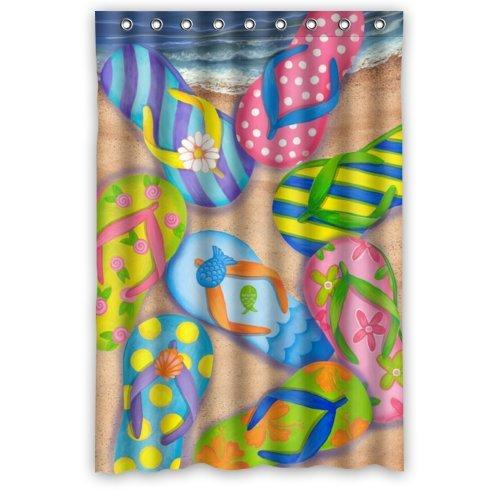 KXMDXA Funny Flip Flops,Slippers Art,Sandals Waterproof Polyester Bath Shower Curtain Size 48x72 Inch