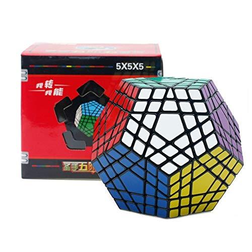 5x5x5 Cubo mágico 5x5 Dodecaedro Profesional Cubo Twist Puzzle Aprendizaje Educativo Juguete,Black