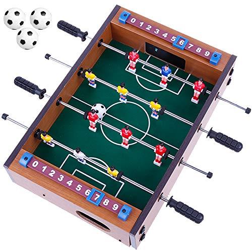Goldge Mini Kickertisch Fußballtisch Kicker inkl. 4 Kickerbälle Maße 34.5 * 23cm Top Qualität für Kinder