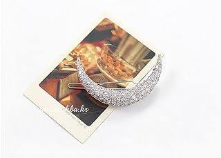 PIXNOR-donna con luna Hairpin a Clip per capelli, colore: argento