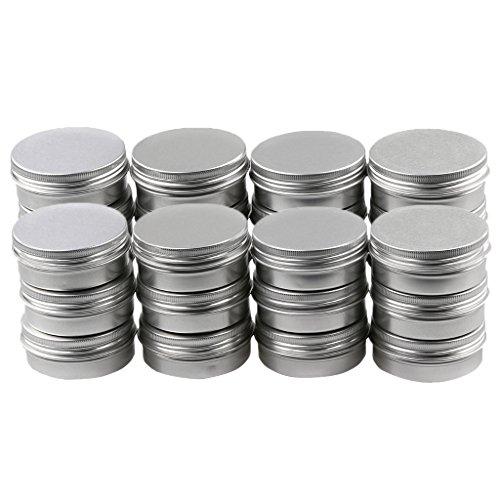 yotijar 24x Pot D'étain En Aluminium Pot De Gel Pot Vide Pot De Crème Pot De Nail Art Pot 10g
