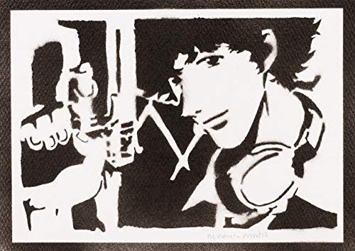 Poster Cowboy Bebop Spike Spiegel Grafiti Hecho a Mano - Handmade Street Art - Artwork