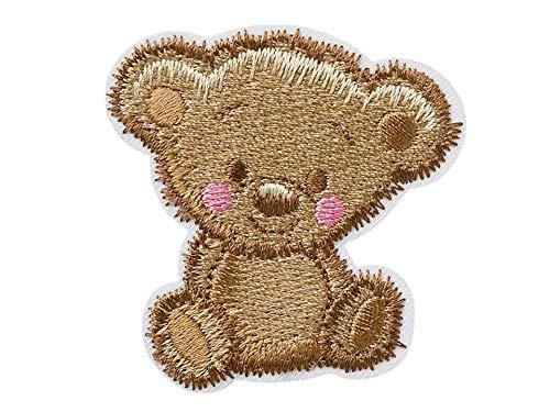 Mono-Quick Bügelbild Aufnäher Patch Applikation zum Aufbügeln Teddy Bär zottelig 5,5 x 5,5 cm
