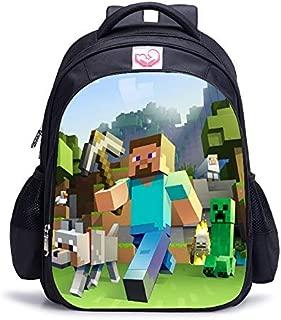 Children Minecraft Cartoon Burden Double Shoulder Mochila Kindergarten Pupil Boy Bag Hot Primary School Backpack