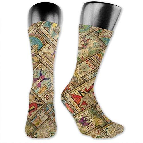 Lustige lässige Socken Diagonale Tarot versteckte Esoterik Wahrsagerei Gedruckte Sport Athletic Socken