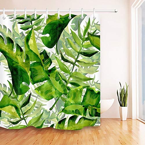 Noir Blanc Tissu rideau de douche Liner en Polyester Tapis de salle de bain Décor Set