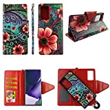 Pink Flower Paisley Case for Samsung A51 4G A515 [ 2-in-1 Wallet] [ Magnetic Detachable] [Flap Closure] Shock-Proof TPU [2-Way Kickstand] [Card Slots] [Wrist Strap] Pu Leather Folio Phone Cover