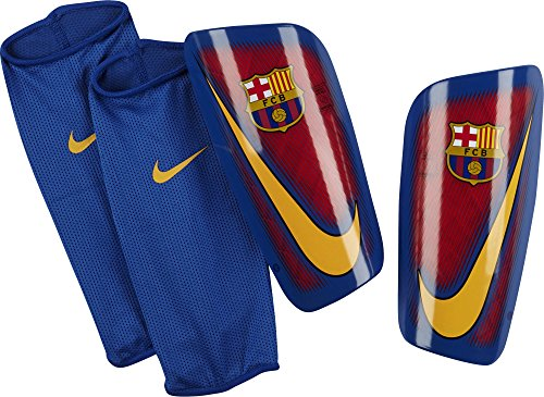 Nike Herren FC Barcelona Mercurial Lite Knieschoner, Prime Red/Game Royal, S