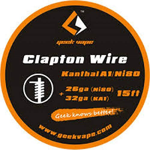 Filo rigenerazione GeekVape Clapton Wire (26GA Ni80+32GA KA1) Resistenza RDA RTA MTL