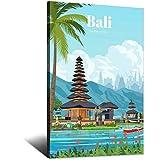 Bali Indonesien Vintage-Reise-Poster auf Leinwand,