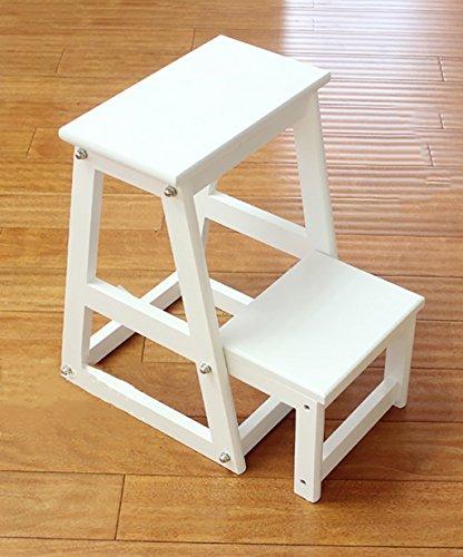ZENGAI Bois Massif Échelle De Chaise Escalier Multifonction Ménager Chaise Pliante Enfant Tabouret Échelle Blanc Échelle en bois Bibliothèque ( taille : H:70CM )