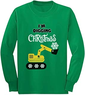 Camiseta infantil de manga comprida I'm Digging Snow Plough Tractor