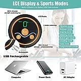 Mifine Electroestimulador Muscular Abdominales, EMS Estimulador, 8 Modos &10 Niveles Entrenador y Pantalla LCD, USB Recargable 3 en 1 para Hombre/Mujer (Negro)