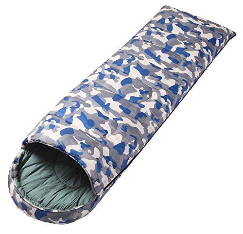 寝袋 丸洗できる 封筒型 シュラフ 1.1kg 1.45kg 2.5kg オールシーズン 夏用 冬用 軽量 防水 コンパクトアウトドア 登山 車中泊 防災用 (迷彩グレー2.5KG)