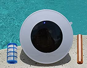 Hilltop Solar Pool Ionizer 7.0 Volts with On/Off LED - Threaded Basket (No wingscrew Req.)| Copper-Silver Anode | Use 85% Less Chlorine and Kills Algae - www.solarionizer.com