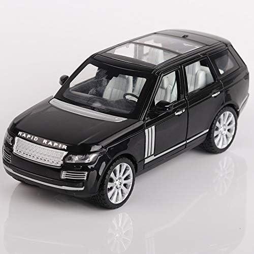 Yxsd Modèle De Voiture en Alliage 1 24 Land Rover Range Rover Simulation Die Cast Miniature Pull Back voiture Toy Voiture avec Lumière (Couleur   noir)