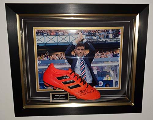 www.SignedMemorabiliaShop.co.uk Steven Gerrard van RANGERS ondertekende Boot Display
