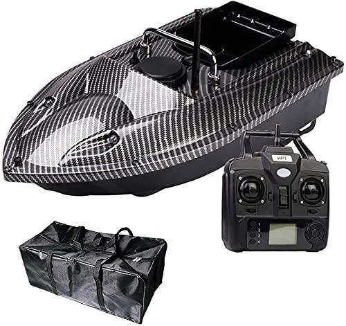 Control Remoto Barco de Pesca Finder Finder Barco Pesca RC Bait Boat con luz de Noche LED y Bolso, Fibra de Carbono