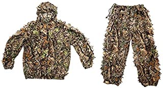 New Design Polyester Hunting Ghillie Suit Outdoor Jungle 3d Leaf Camouflage Woodland, Suit Xl - Camouflage Clothing Hunting, Hunting Clothes, Gillie Suit, Hunting Clothing, Leafy D