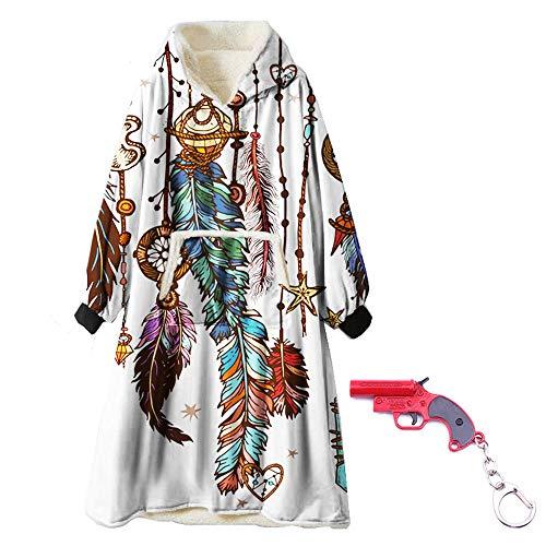 Zuichu trui met capuchon, extra grote tas, winddicht met een mouwdeken, jersey van zachte microvezel, met sleutelhanger