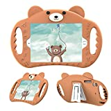 pzoz Case Compatible with iPad 2 3 4 Case for Kids Shockproof Silicone Handle Stand Bumper Proof Girls Boys Cover Compatible with Apple iPad 2nd 3rd 4th Generation Gen A1395 A1396 A1397 - Brown