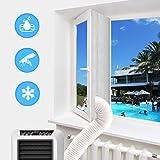 Fensterabdichtung für Mobile Klimageräte, Wäschetrockner und Ablufttrockner, Hot Air Stop zum Anbringen an Fenster, Dachfenster, Flügelfenster/Fensterabdichtung Klimageräte 400cm