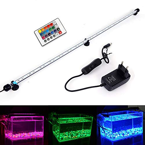 MLJ LED Aquarium Lighting Luce di Pesce Drago Illuminazione per Acquario Impermeabile (Deutschland Lagerhaus) (92cm, RGB)