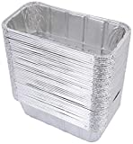 DOBI (50 Pack) Loaf Pans - Disposable Aluminum Foil 2Lb Bread Tins, Standard Size - 8.5' X 4.5' X 2.5'
