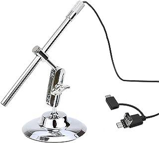 مكبر مجهر USB رقمي محمول IP67 كاميرا مقاومة للماء مدمجة 8 أضواء LED مع مستشعر سيموس متطور وتكبير 10X-200X للهواتف الذكية ا...