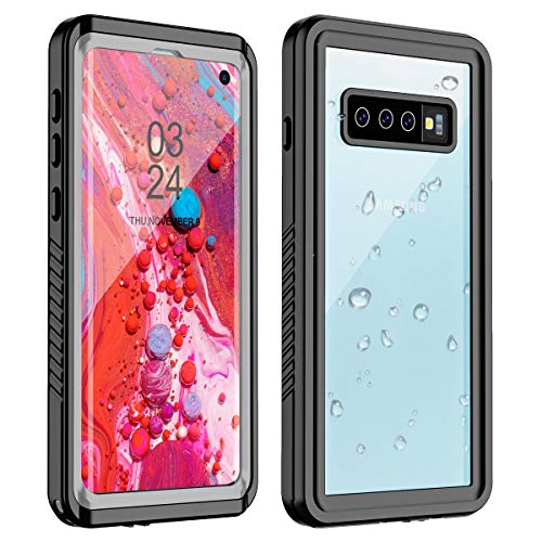 TESTGO Samsung Galaxy S10 Waterproof Case, Galaxy S10 Case IP68 Underwater Full Body Protection with Built-in Screen Protector Fingerprint Reader Dropproof Dirtproof Case for Galaxy S10 6.1 inch