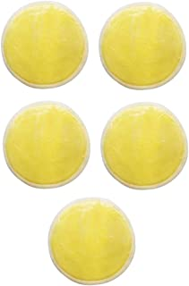 Baoblaze 5 Pieces Reusable Makeup Remover Pads, Soft Facial Cotton Cosmetic Removal Tool - Perfect for Face Cleansing - Yellow