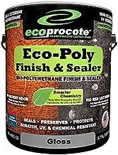 Eco-Poly Polyurethane Sealer & Floor Finish, Wood Floor Sealer & Concrete Sealer, Non Toxic Water Based Sealer (1 Gallon, Gloss)