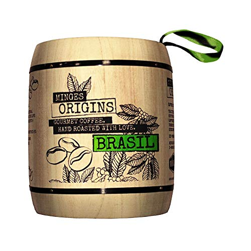 Minges Kaffee Brasil Hochland im Holzfass, ganze Bohne, 250g