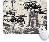 ZOMOY マウスパッド 個性的 おしゃれ 柔軟 かわいい ゴム製裏面 ゲーミングマウスパッド PC ノートパソコン オフィス用 デスクマット 滑り止め 耐久性が良い おもしろいパターン (軍事戦場の原爆爆発ヘリコプター都市破滅インフェルノ)